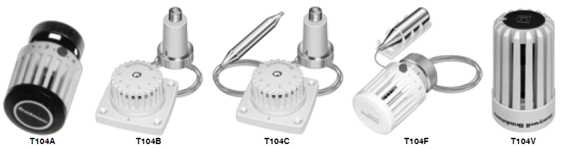 T104 Series High Capacity Thermostatic Radiator Valve Actuators