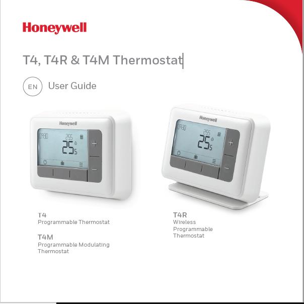 Honeywell Lyric T4, T4R & T4M Thermostat User Manual