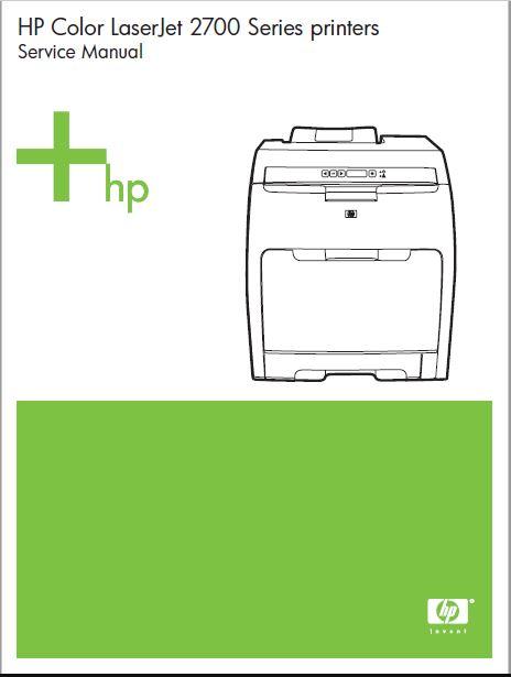 HP Color LaserJet 2700 Series printers Service Manual