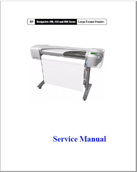 HP DesignJets 500 Service Manual