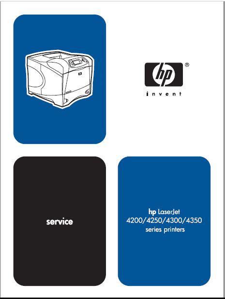 HP LaserJet 4200-4250-4300-4350 series Service Manual