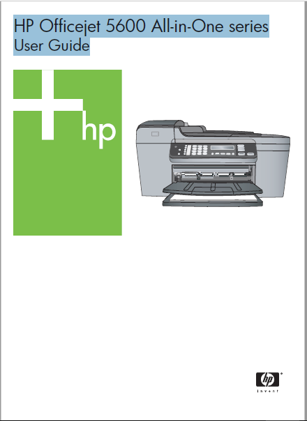 HP Officejet 5600 All-in-One series User Guide