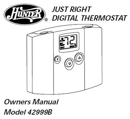 Hunter 42999B Owners Manual