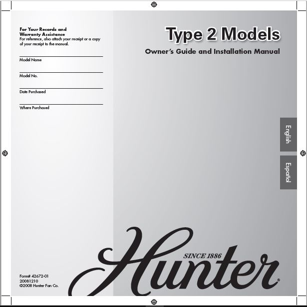 Hunter 20175 42 Southern Breeze User Manual