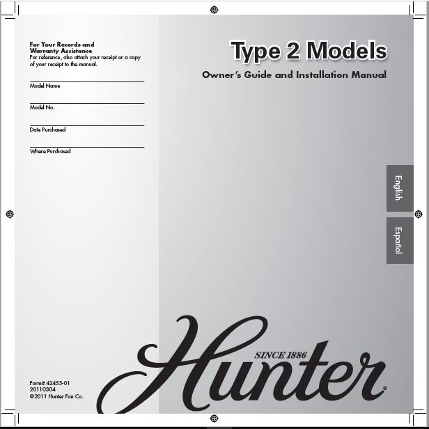 Hunter 20177 52 Kensington User Manual