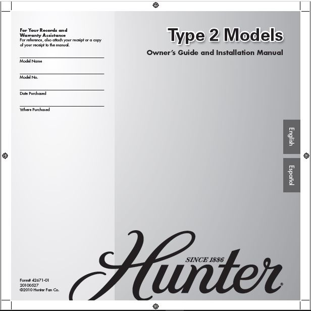 Hunter 21362 46 Stonington User Manual