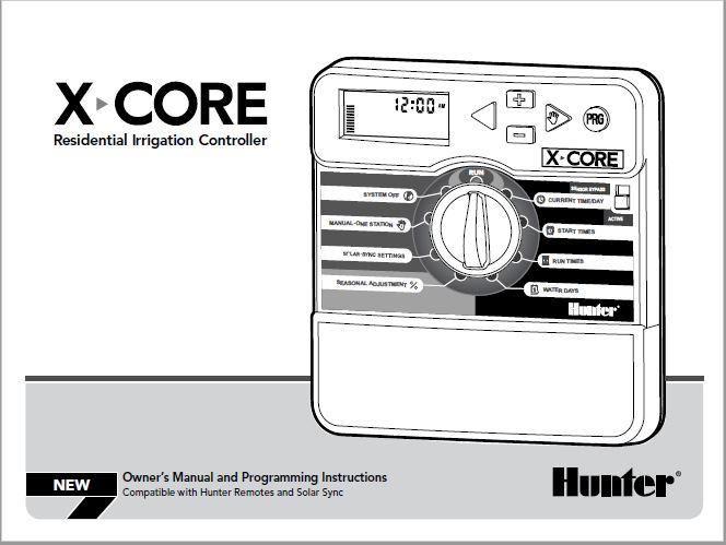 Hunter X-CORE User Manual