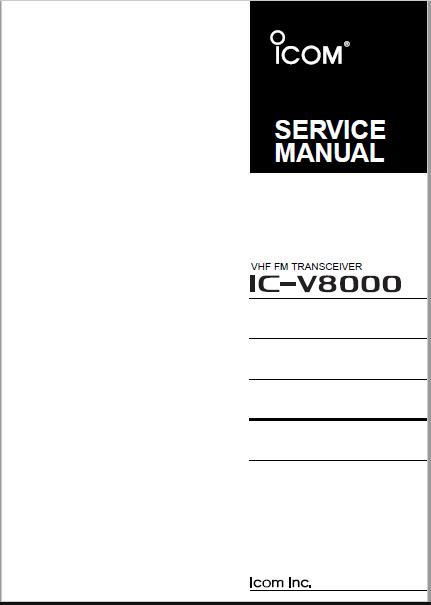 Icom V8000 Service Manual