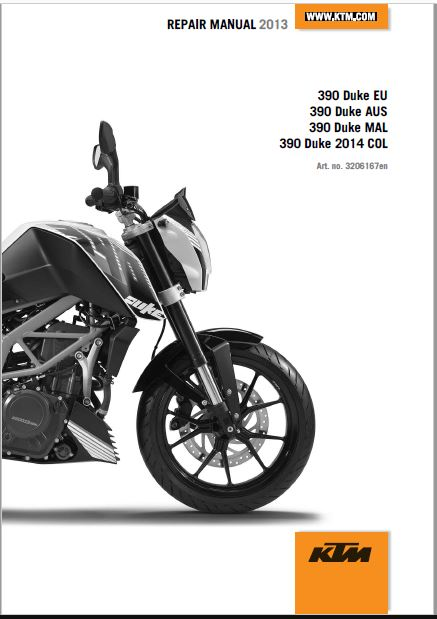 2013 KTM 390 Duke Repair Manual