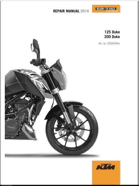 2016 KTM 125 DUKE Repair Manual