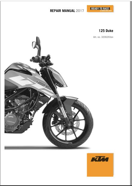 2017 KTM 125 DUKE Repair Manual