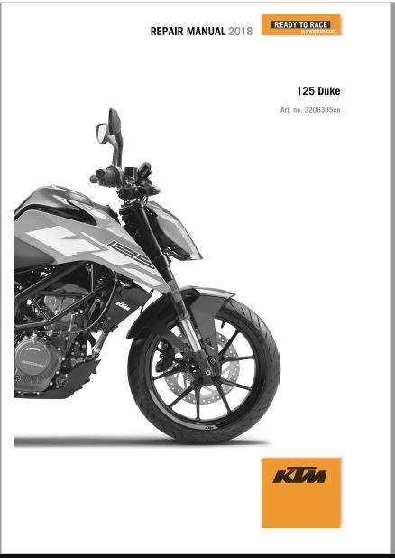 2018 KTM 125 DUKE Repair Manual