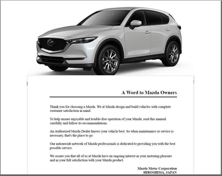 Mazda CX5 Owners Manual