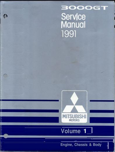 1991 Mitsubishi 3000GT Service Repair Manual