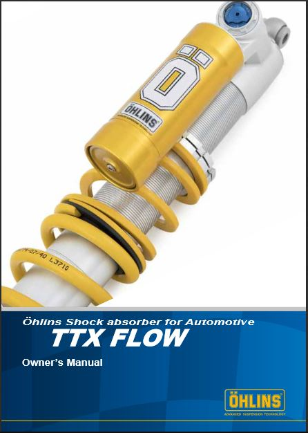 Ohlins Auto TTX Flow Owners Manual