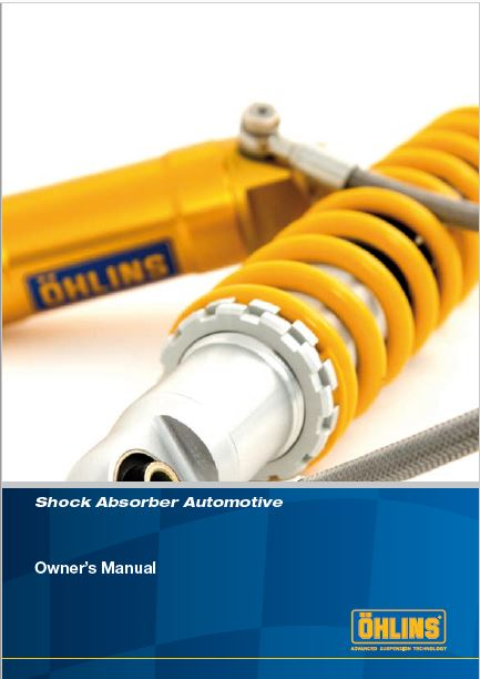 Ohlins Shock Absorber STX Manual