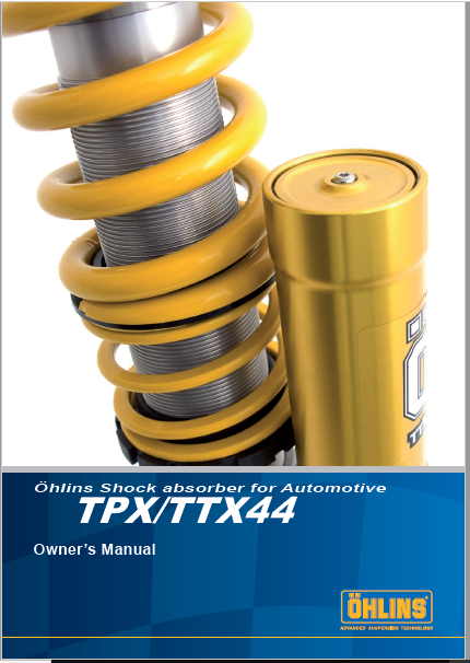 Ohlins Shock Absorber TPXTTX44 Owners Manual