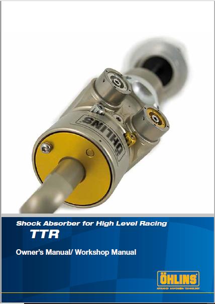 Ohlins Shock Absorber for High Level Racing, TTR Manual