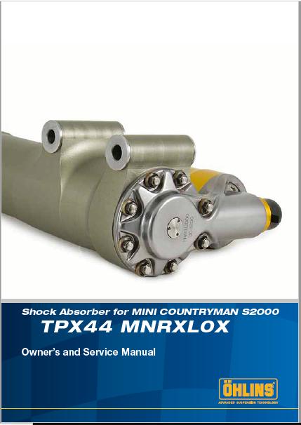 Ohlins TPX44 MNRXL0X Manual