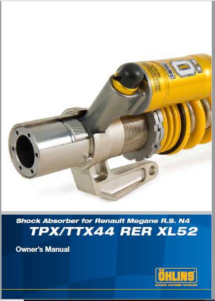 Ohlins TPXTTX44 RER XL52 Manual