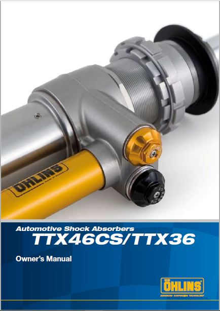 Ohlins TTX46CS-TTX36 Manual