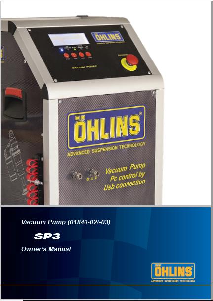 Ohlins Vacuum Pump SP3 Manual PDF
