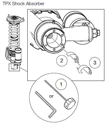 TPX44 Shock Absorber Rebound Damping Adjuster