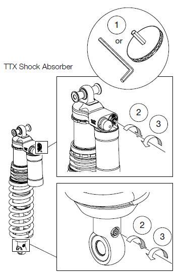 TTX44 Shock Absorber Rebound Damping Adjuster