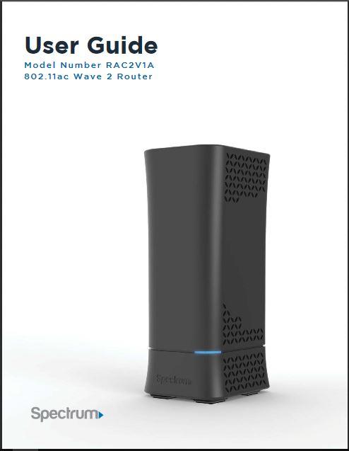 Spectrum RAC2V1A User Manual Pdf Download