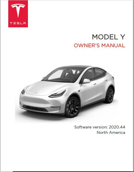 Tesla Model Y Owners Manual