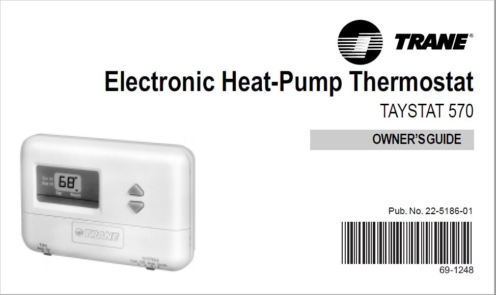 Trane Electronic Heat-Pump Thermostat TAYSTAT 570 Manual