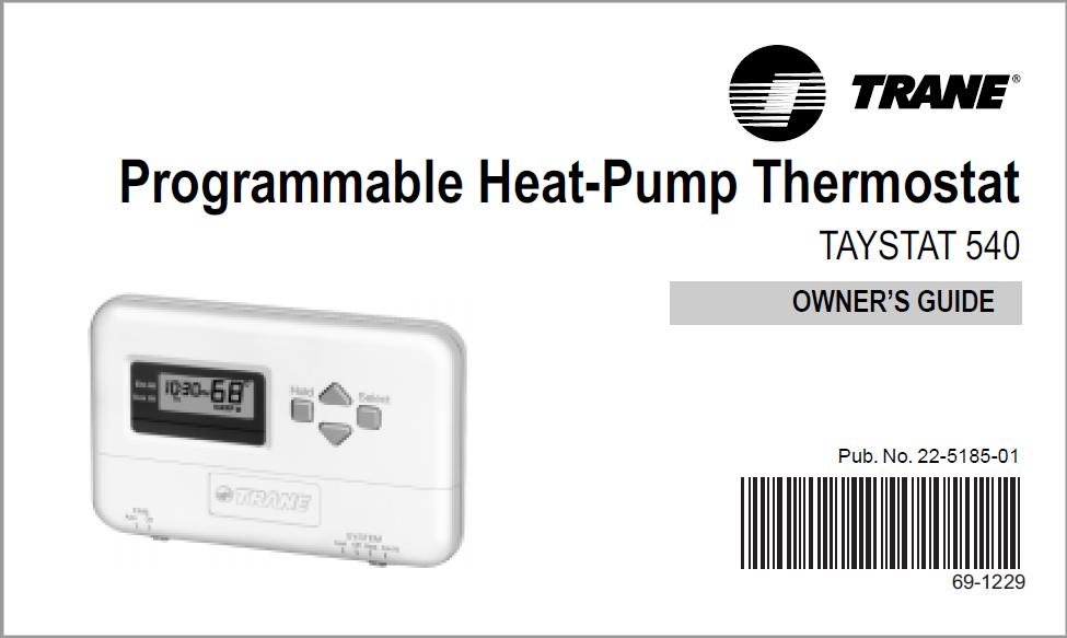 Trane Thermostat TAYSTAT 540 Manual