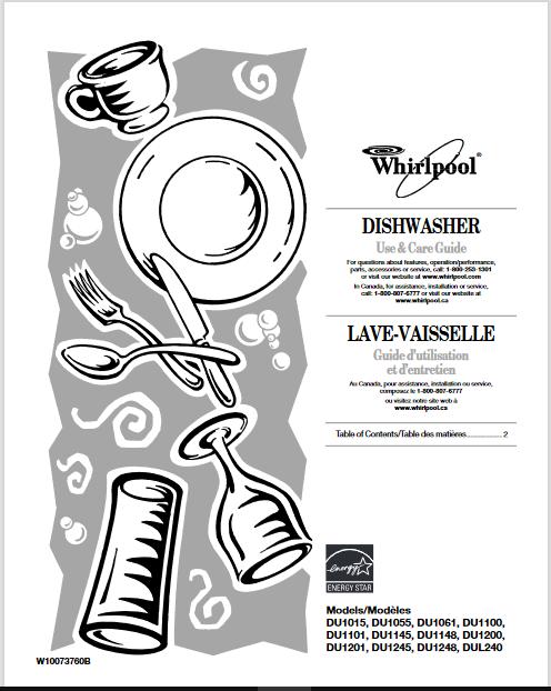 Whirlpool Quiet Partner II User Manual