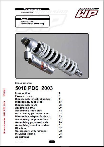 KTM WP 5018 PDS 2003 Workshop Repair Manual