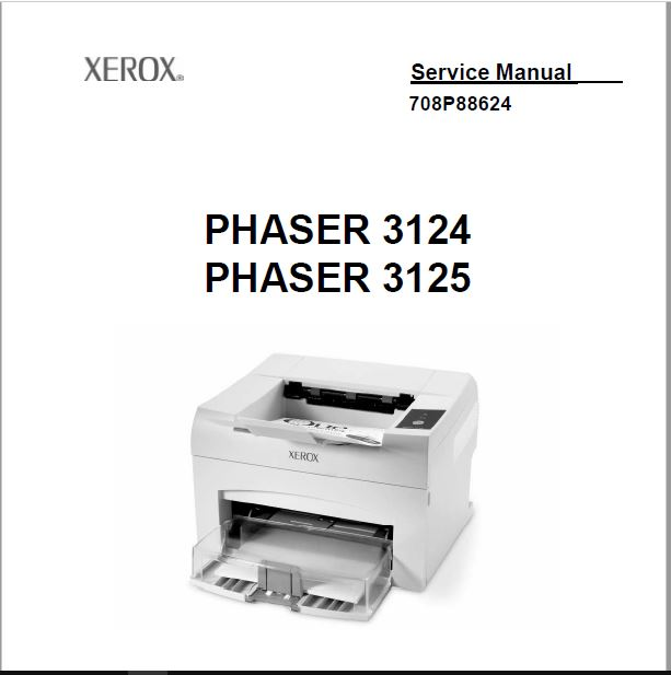 Xerox Phaser 3124 Service Manual