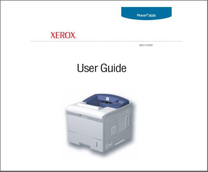 Xerox Phaser 3600 User Guide