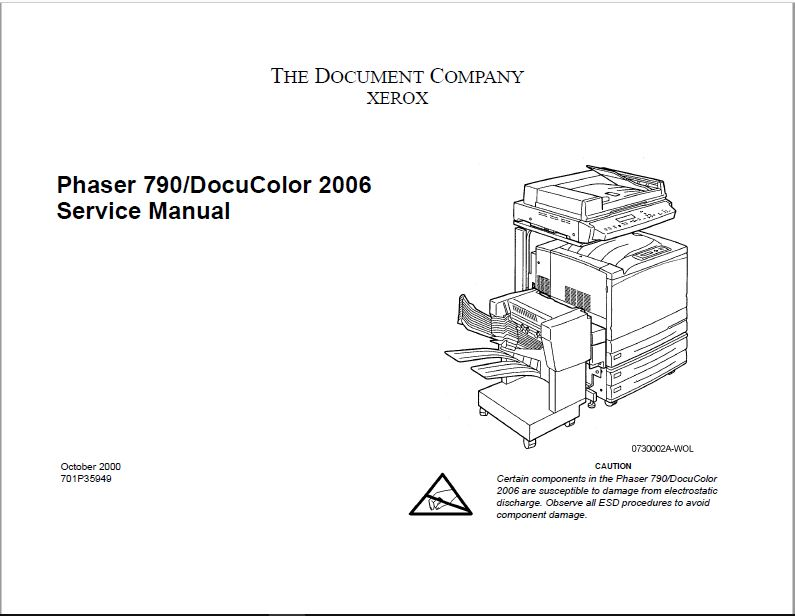 Xerox PHASER 790 Service Manual
