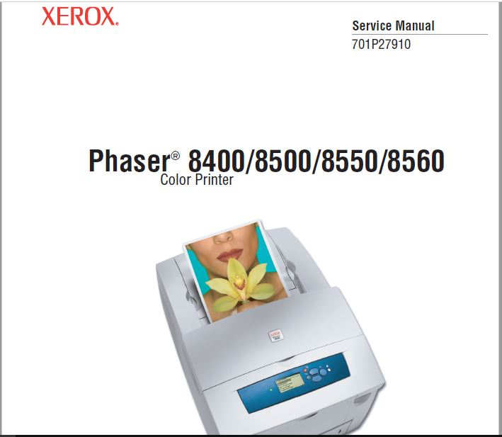 Xerox Phaser 8400-8500-8550-8560 Service Manual